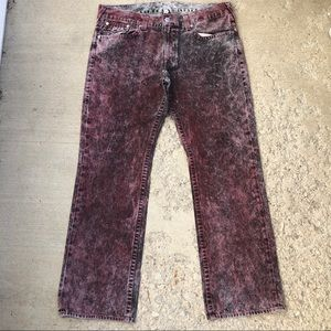 True Religion acid wash basic straight leg jeans